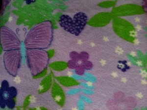 Purple Butterfly and Heart
